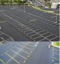 Asphalt Striping & Sealing 1